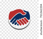 handshake vector logo. shaking...   Shutterstock .eps vector #701362204