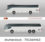 coach buses vector mock up for... | Shutterstock .eps vector #701364463