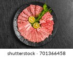 japanese beef for the finest... | Shutterstock . vector #701366458