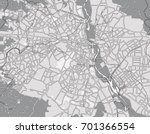 black   white vector map of new ... | Shutterstock .eps vector #701366554