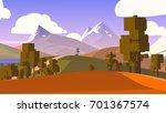 stylized cartoon countryside. | Shutterstock . vector #701367574