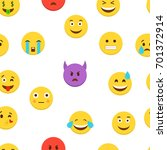emoticons set. emoji background.... | Shutterstock .eps vector #701372914