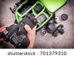 photographer pack his camera... | Shutterstock . vector #701379310