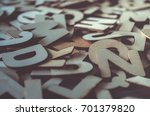 word made with wooden letters....   Shutterstock . vector #701379820