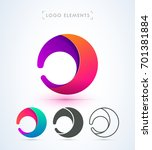 vector abstract rounded logo.... | Shutterstock .eps vector #701381884
