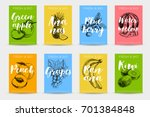 vector hand drawn sketch fruits ... | Shutterstock .eps vector #701384848