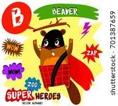 super big set. cute vector zoo... | Shutterstock .eps vector #701387659