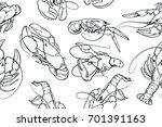 abstract seamless vector... | Shutterstock .eps vector #701391163