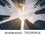 business buildings skyline... | Shutterstock . vector #701393416