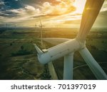 wind turbine from aerial view....