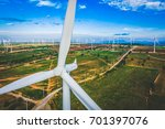 wind turbine from aerial view.... | Shutterstock . vector #701397076