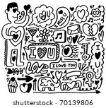 hand draw love element | Shutterstock .eps vector #70139806
