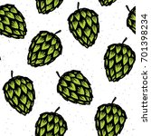 hop vector seamless pattern.... | Shutterstock .eps vector #701398234