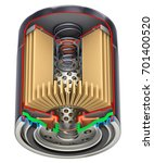 cross section of car oil filter ... | Shutterstock . vector #701400520