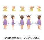 front  side  back view animated ... | Shutterstock .eps vector #701403058