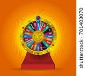 color lucky wheel template.... | Shutterstock .eps vector #701403070