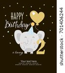 happy birthday card | Shutterstock .eps vector #701406244