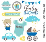 baby shower set | Shutterstock .eps vector #701406253