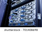 fiber optical network cable and ... | Shutterstock . vector #701408698