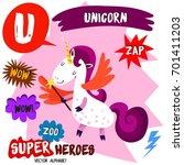 super big set. cute vector zoo... | Shutterstock .eps vector #701411203