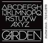 modern vector font elegant
