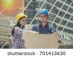engineer people meeting working ... | Shutterstock . vector #701413630