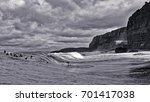 surfers waiting for their wave... | Shutterstock . vector #701417038