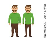 illustration featuring a fat... | Shutterstock .eps vector #701417593
