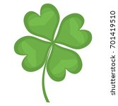 four leaf clover | Shutterstock .eps vector #701419510