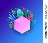 tropical background | Shutterstock .eps vector #701420764