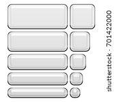 white plastic shiny smooth set... | Shutterstock . vector #701422000