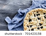Top View Of A Blueberry Pie...