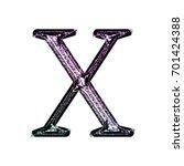 shiny purple glittery uppercase ...   Shutterstock . vector #701424388