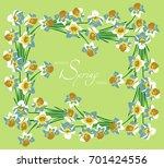 illustration on a light green... | Shutterstock .eps vector #701424556
