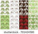 seamless pattern with a branch... | Shutterstock .eps vector #701424580