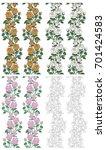 beautiful flowers seamless... | Shutterstock .eps vector #701424583