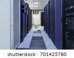 server room with modern... | Shutterstock . vector #701425780