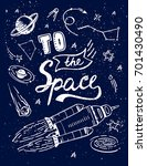 to the space quote vector... | Shutterstock .eps vector #701430490