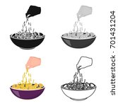 preparation of food from pasta. ... | Shutterstock .eps vector #701431204