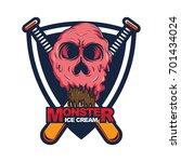 color ice cream vector... | Shutterstock .eps vector #701434024