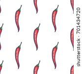 hand drawn chili pepper... | Shutterstock .eps vector #701434720