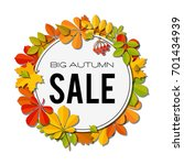 sale banner with bright autumn... | Shutterstock .eps vector #701434939