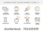 flat line design concept icons... | Shutterstock .eps vector #701435359