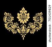 golden  pattern on a black... | Shutterstock . vector #701439829