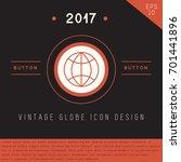 globe icon design on modern... | Shutterstock .eps vector #701441896