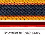roof tile of the temple  art... | Shutterstock . vector #701443399
