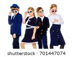 group of modern children posing ... | Shutterstock . vector #701447074