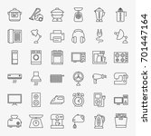 household line icons. vector... | Shutterstock .eps vector #701447164