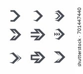 arrow icon vector set | Shutterstock .eps vector #701447440