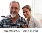 portrait of smiling female... | Shutterstock . vector #701451193